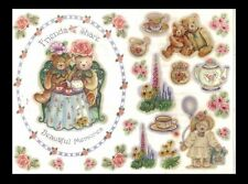*Beautiful Memories* Penny Black Stickers Frame & Accents Bears Tea Party Floral