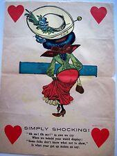 """Vintage Vinegar Valentine Titled """"Simply Shocking!"""" w/ Woman's Back Side *"""