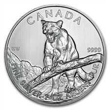 Canadian Wildlife Series Cougar 2012 1 oz .9999 Silver Coin