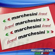 Adesivi Cerchi MARCHESINI Forged Bianco Nero e Rosso