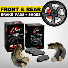 FRONT + REAR Disc Brake Pads + Shoes 2 Complete Sets Toyota Corolla, Geo Prizm