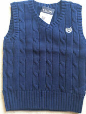 NEW Christmas Chaps Ralph Lauren Boys Blue Vest Shirt 2T $30 RETAIL