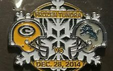 Green Bay Packers vs Detroit Lions 12/28/14 BRAND NEW NFL Game Day Pin