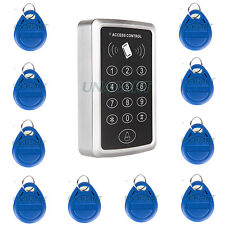 125KHz 1 Single Door RFID Card Access Control Keypad Support 1000 Users W/ Tags
