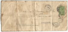 GB 1928 cover mailed 5 times with 4 sets of stamps & postmarks 18MY to 13JY