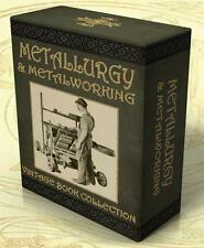 METALLURGY & METALWORKING 310 Vintage Books on 2 DVDs Forging Founding Welding