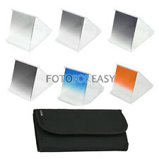 6pcs Gradual ND2 ND4 ND8 Grey Blue Brown Color Square Filter for Cokin P Series