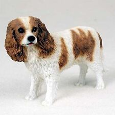 Cavalier King Charles Brown Dog  Hand Painted Canine Collectable Figurine Statue