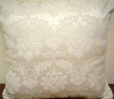"""30"""" x 30"""" Floral Jacquard Cushion Cover - Cream"""