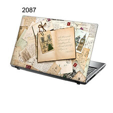 "TaylorHe 15.6"" Laptop Vinyl Skin Sticker Decal Vintage Letters & Postcards 2087"