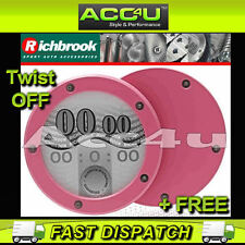 Richbrook Pink Twist Off Back Car Tax Disc Holder+FREE
