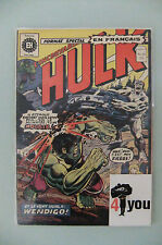 4.0 VG VERY GOOD HULK # 180  FRENCH/CANADIAN  EURO VARIANT OW/CP YOP 1974