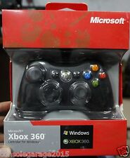 New Xbox 360 Wired Controller Black Remote FOR Microsoft PC & XBOX 360★Warranty★
