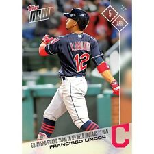 2017 TOPPS NOW #12 FRANCISCO LINDOR HITS GO-AHEAD GRAND SLAM IN 9TH FOR INDIANS