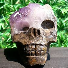 1127g Rare Natural skull Agate Crystal Hollow Geode Clusters GT113