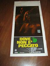 LOCANDINA,1970, DOVE NON E' PECCATO Antonio Colantuoni 1970 DOCUMENTARIO