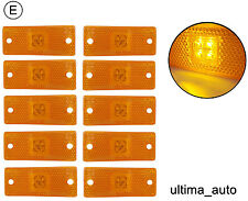 10 pcs 12v 24v LED amber orange side marker lights lamps trailer truck E-marked