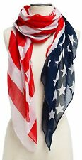 American Flag Patriotic Independence 4th of July Memorial Day USA Scarf Cape