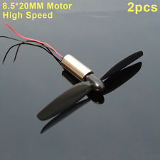 2PCS DC 3-5V 8.5*20MM High Speed Model Helicopter Coreless DC Motor for Engines