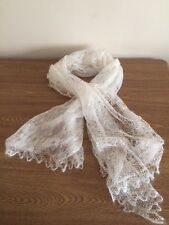 Beautiful Natural Orenburg Goat Down lace Shawl / Scarf NEW - Perfect Gift