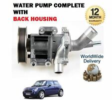 FOR MINI ONE + COOPER + S 1.6 CABRIO 2001-2007 NEW WATER PUMP KIT COMPLETE