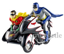 Hot Wheels TV Series Classic 1966 Batcycle w Batman & Robin Figures 1:12 CMC85