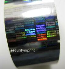 """Holographic Silver Security Hot Stamping Foil """"ORIGINAL"""" Roll 30mm wide 120m L"""