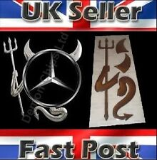 Mercedes Benz Sprinter 3D Dome Devil Demon Car Sticker Decal Badge Silver Chrome