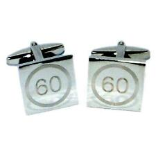 60 Years Old Birthday Speed Limit Style Road Sign Cufflinks Present Gift Box