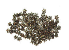 5mm Tiny Celestal Stars Antiqued Goldtone Metalized Metallic Beads