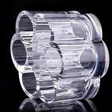 New Round Hole Holder Cosmetic Makeup Organizer Storage Box Clear Acrylic 1pc 2D
