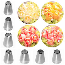 7PCS Russian Tulip Rose Icing Piping Tips Cake Decoration Stainless Steel Nozzle