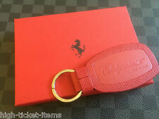 Genuine Ferrari California T Keyring in Red Genuine Leather Made in Italy