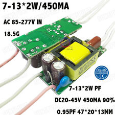 5PCS AC85-277V 20W LED Driver 7-13x2W 430mA DC29-45V PFC Constant Current Power