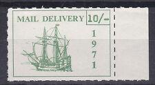 1971 STRIKE MAIL PUBLIC MAIL SHIP 10/- GREEN ON WHITE MARGINAL PM 8 MNH