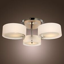 Modern Acrylic Chandelier Ceiling Lamp Pendant Light Fixture Flush Mount 3 Light