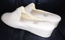 DANIEL GREEN  BEIGE  LEATHER MULES   SLIPPERS SHOES 7.5 N NEW WITHOUT BOX