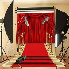 Rde Curtain Photo Backdrop Movie Night Party Decoration Red Carpet Background **