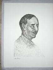 TAMARI Olive Saint  John Perse Eau forte grise 69 Portrait Toulon Nobel Poésie