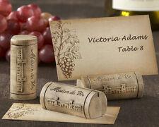 48 Maison du Vin Wine Cork Grape Theme Place Card Holders Wedding Favors