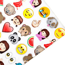 Emoji Print Kids Arts Crafts Upholstery Fabric Polycotton Textile Material