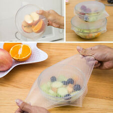 New 4 Pcs Reusable Silicone Food Bowl Covers Wrap,Keep Food Stretch and Fresh