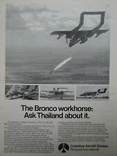 1/1974 PUB COLUMBUS AIRCRAFT ROCKWELL OV-10 BRONCO ROYAL THAILAND AIR FORCE AD