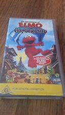 THE ADVENTURES OF ELMO IN GROUCHLAND MOVIE  VHS VIDEO TAPE