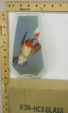 FREE US SHIP OK Touch Lamp Replacement Glass Panel Humming Bird 638-HC3
