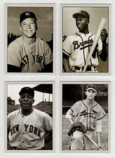 Lot of 4 Mantle Aaron Mays Musial Plutograph signature photo cards serial # /200