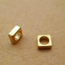 80pcs 5mm Wide Raw Solid Brass Flat Square Washer Quad Beads 2mm Thick