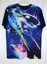 Chemistry Mesh Jersey Front Killer Whales Orcas Laser Eyes Top Tshirt sz M Mens