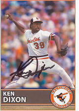 BALTIMORE ORIOLES  AUTOGRAPHED Ken Dixon  SIGNED BASEBALL POSTCARD PHOTO