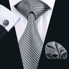 C-982 Hot New Mens Silk Ties Wedding Party Neckties Tie+Hanky+Cufflinks Sets